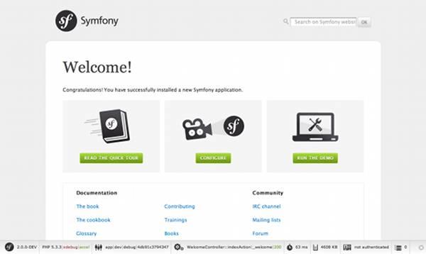 installing and configuring symfony  symfony 2 0 book
