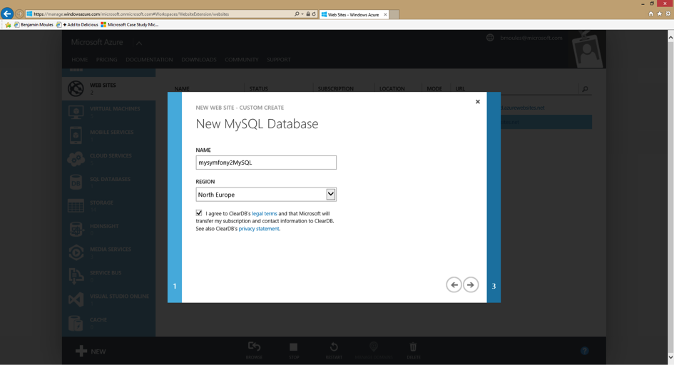 how to connect asp.net website to mysql database