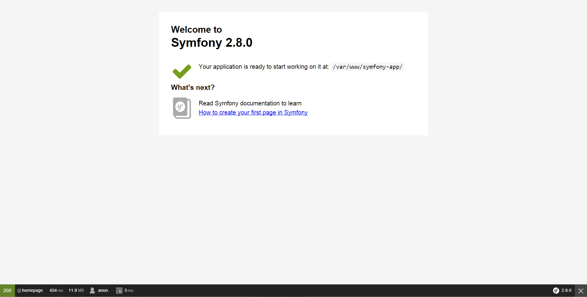 Installing & Setting up the Symfony Framework (Symfony 2 8 Docs)