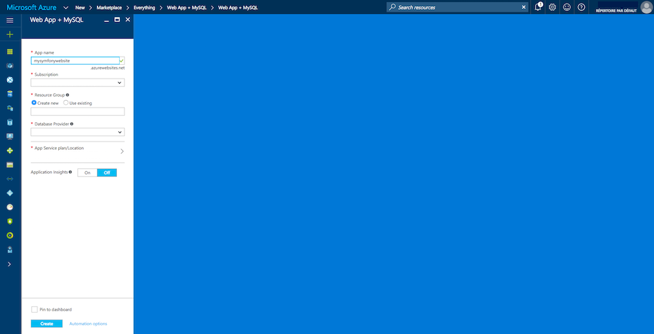Deploying to Microsoft Azure Website Cloud (Symfony 3 1 Docs)