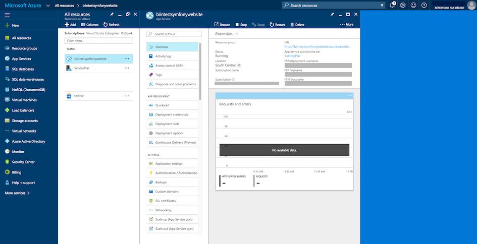 Deploying to Microsoft Azure Website Cloud (Symfony 3 3 Docs)