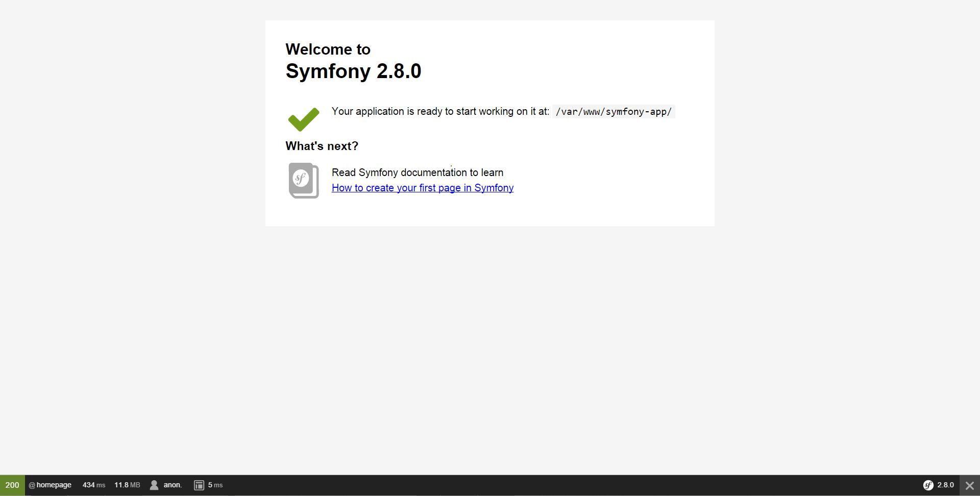 symfony avec composer