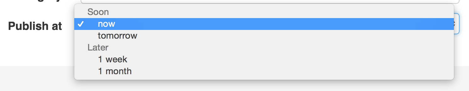 ChoiceType Field (select drop-downs, radio buttons