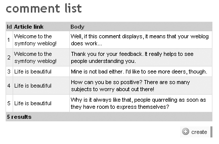 Custom field in the list view of the comment module