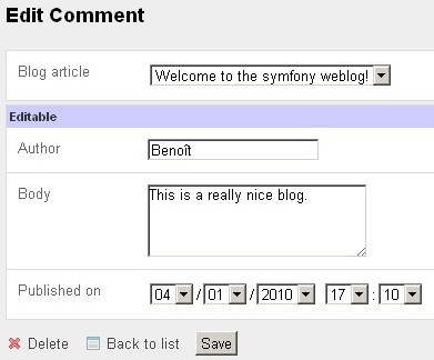 Grouping fields in the edit view of the comment module