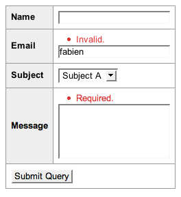 Invalid Form