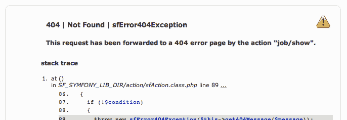 404 error in the dev environment
