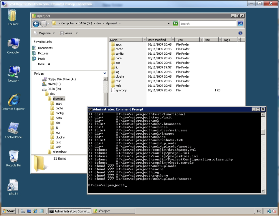 Windows Explorer - Project Initialization OK.