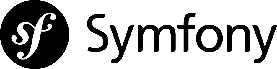 Symfony logo in black color and horizontal orientation