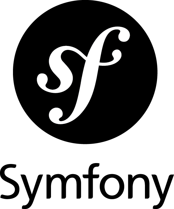 Symfony logo in black color and vertical orientation