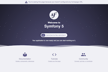 Screenshot of the Symfony Welcome Page