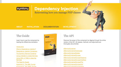 Symfony Dependency Injection Container website