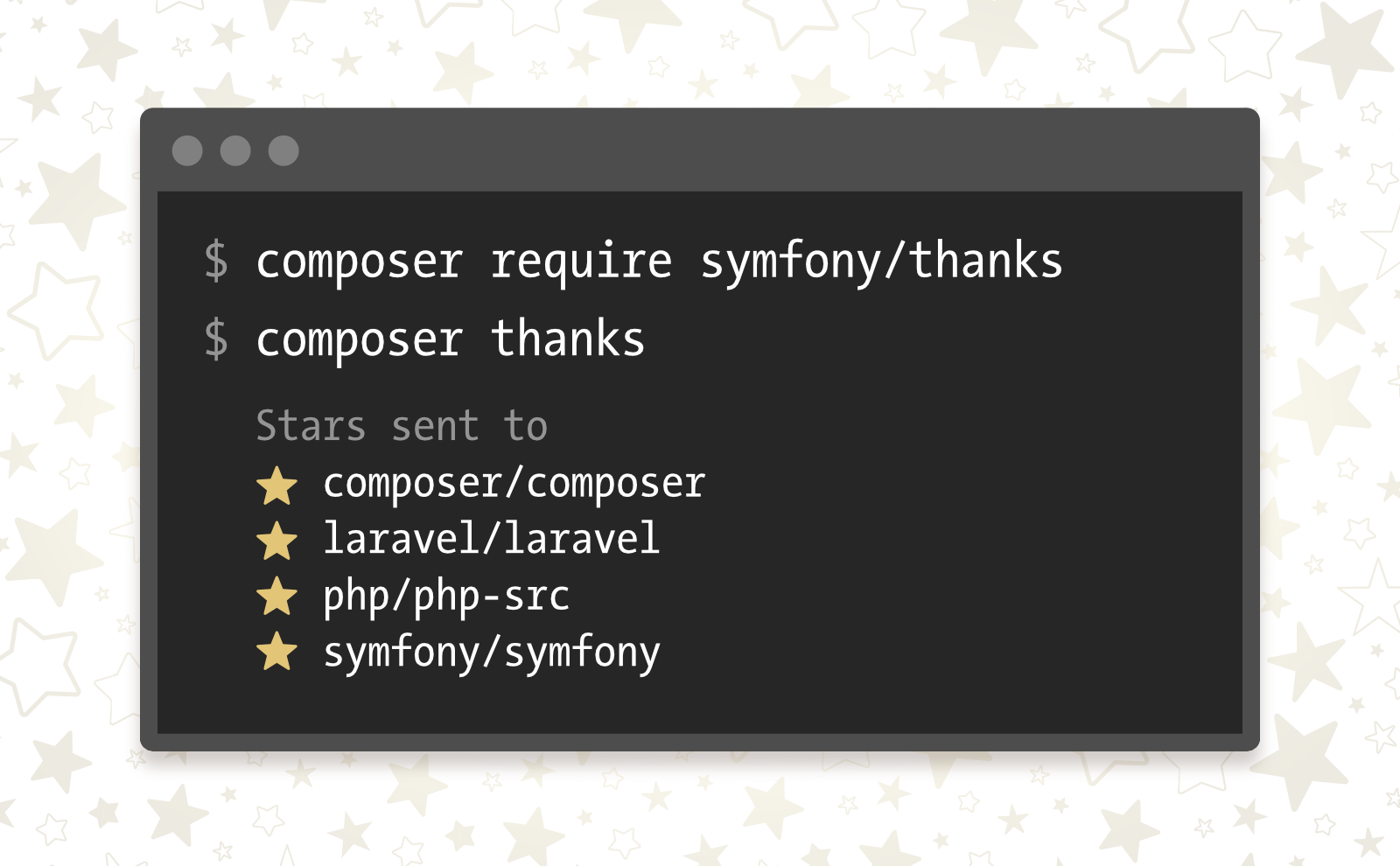 Composer thanks