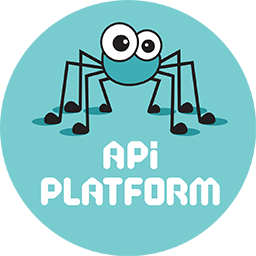 Logo of the API Platform project, which uses the PHPUnit Bridge Symfony component