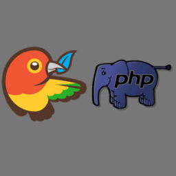 Logo of the bowerphp project, which uses the Filesystem Symfony component
