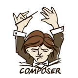 Logo of the Composer project, which uses the Filesystem Symfony component
