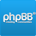 Logo of the phpBB project, which uses the Filesystem Symfony component