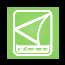 Logo of the phpDocumentor project, which uses the Filesystem Symfony component