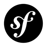 Logo of the Symfony project, which uses some Symfony components